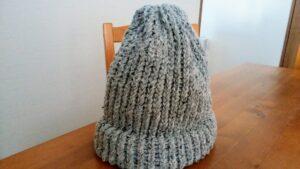 ツィードニット帽
