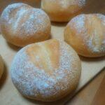 捏ねはホームベーカリにお任せ!ま〜るいフランスパン作り